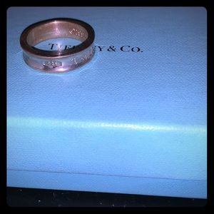 Tiffany & Co. 1837 ring, sterling silver